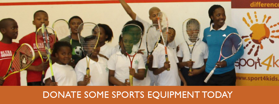 Donate some sports equipment today